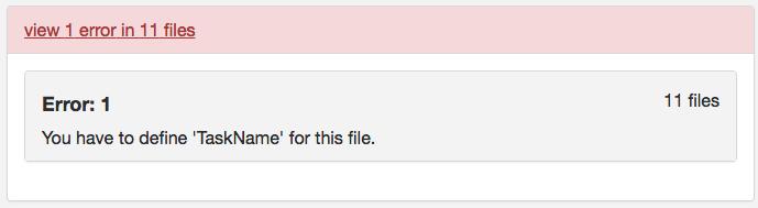 Script_error message script_taskname